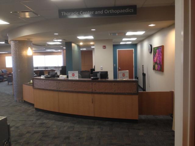 Thoracic Center & Orthopaedics - Reception desk